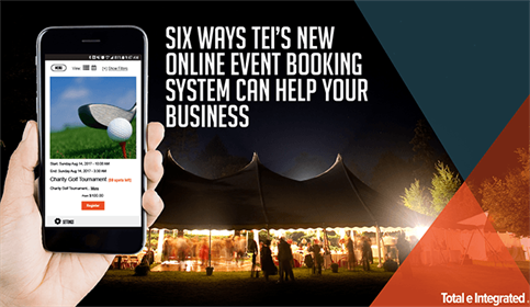 Six Ways TEI's New Online Event Booking System Can Help Your Business